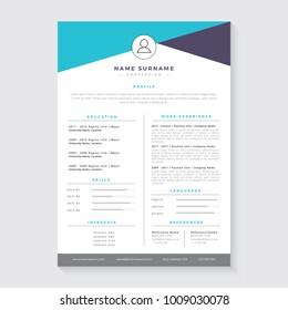 Resume template, CV