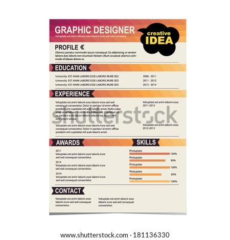 resume template cv creative background vector stock vector royalty