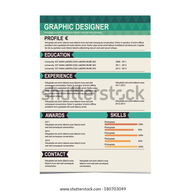 Resume Template Cv Creative Background Vector Stock ...