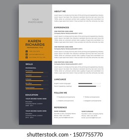 Resume template / Cv Vector