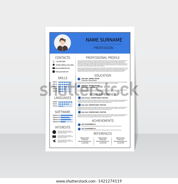 Cv Layout from image.shutterstock.com