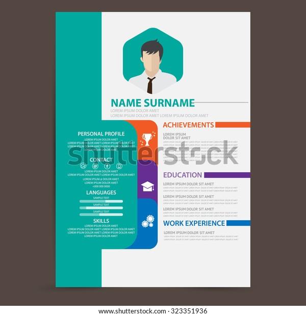 Resume Vector Stock Vector Royalty Free 323351936