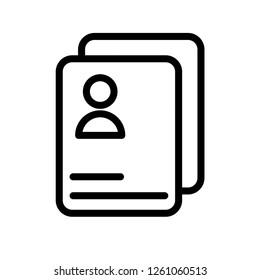 Resume vector icon