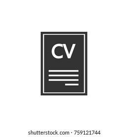 Resume Vector Icon Business Human Resource Stock Vector Royalty