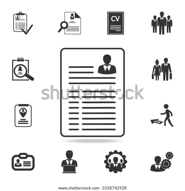 Resume Vector Icon Set Human Resources Stock Vector Royalty Free