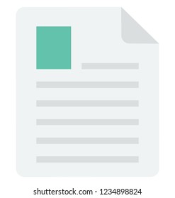 Resume Vector Icon that can be easily edit or modified