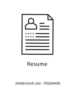 Resume Vector Line Icon