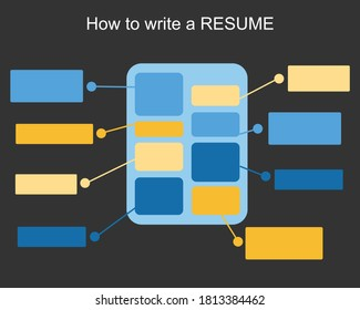 Resume writing guideline to get a job vector