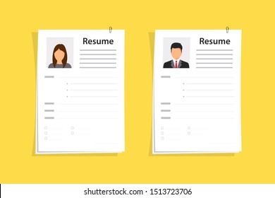 Resumes. CV application. Selecting staff. Searching professional staff. Analyzing personnel resume. Resume form. Recruitment. Concept of employment. Business resume.