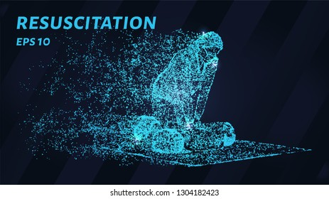 Resuscitation of particles on a dark background. Resuscitation of circles and dots