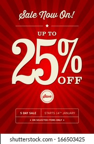 Retail 25% Off Sale Poster