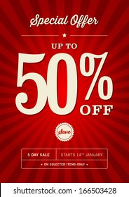 Retail 50% Off Sale Poster