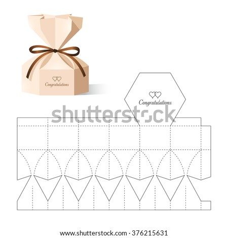 retail box blueprint template のベクター画像素材 ロイヤリティ