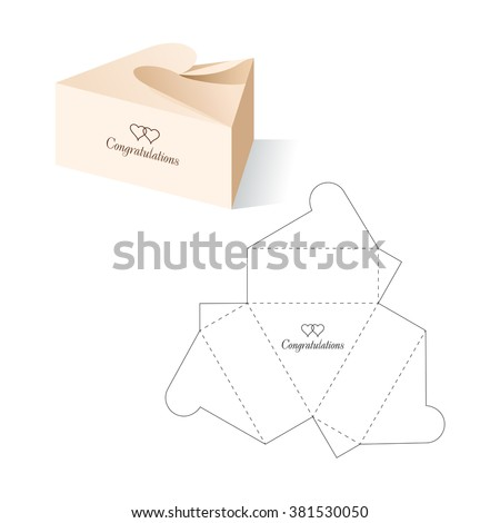 retail box blueprint template stock vector royalty free 381530050