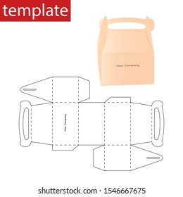 Retail box with diagram template.
