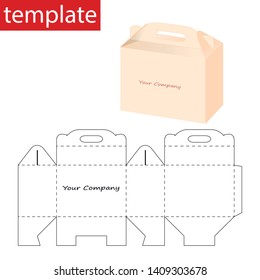 Retail Box Box with Die Cut Template