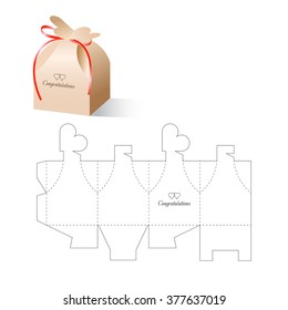 Retail Box Love Heart with Blueprint Template