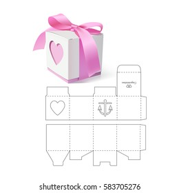 Retail Gift Box with Die Cut Template