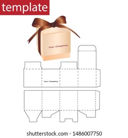 Retail paper box with die cut template.