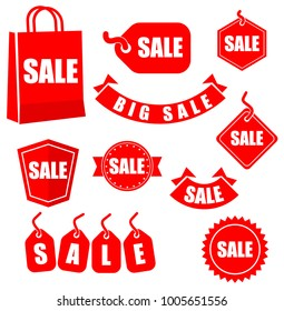 Retail sales promotional vector badges and icons.