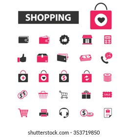 retail, sales, supermarket, shopping, mall, food market, merchandise, buying, consumer, store, cart, payment, groceries, bag, discount icons, signs vector concept set