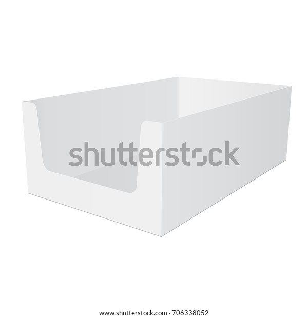 Retail Shelf Box Packaging Mockup Isolated Stock Vector Royalty
