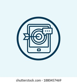 retargeting icon, digital marketing concept, eps 10 file, easy to edit