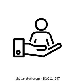 Retention icon, vector illustration