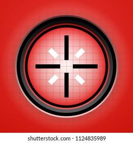 Reticle, crosshair, target mark – Scope, radar, target, scanner display