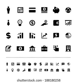 Retina business and finance icon set .Illustration eps10