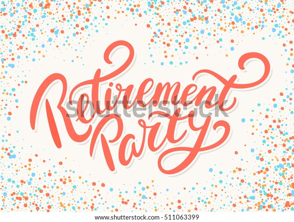 Retirement party banner.