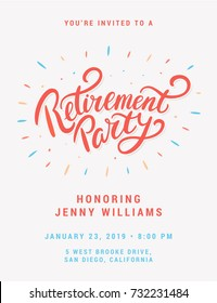 Retirement party invitation.
