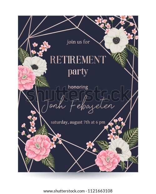 Fiesta de jubilación Invitaciones vacaciones//tema de vacaciones Personalizado