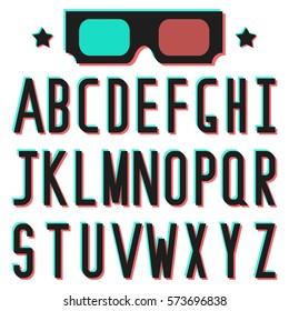 Retro 3D Alphabet / Vintage Style