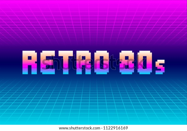 Retro 80s Grid Background. EPS10 Vector With Transparency