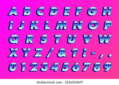 Retro 80's Type - Bold Oblique