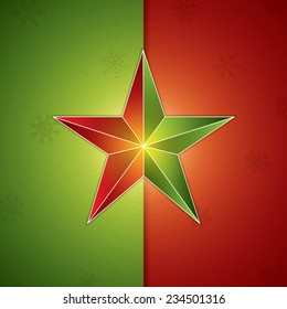 Retro abstract christmas star background.Vector illustration