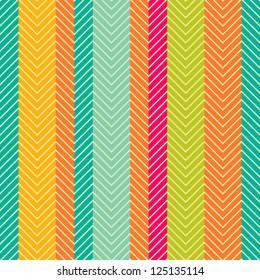 Retro abstract herring-bone seamless pattern