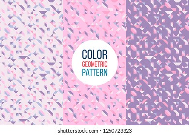 Retro abstract pattern in geometric style. Classic color with geometric figures. Creative abstract background.