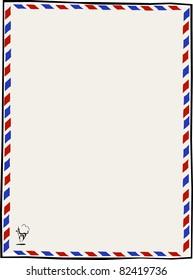 Retro Air Mail Par Avion Letterhead Vector Illustration