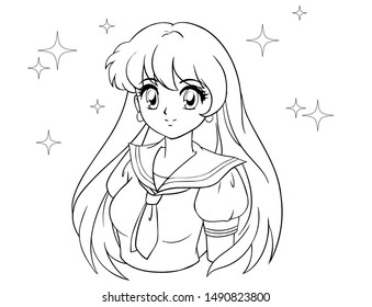 Anime Outline Images Stock Photos Vectors Shutterstock