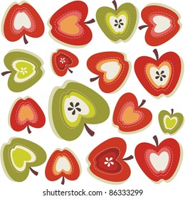 Retro apple pattern