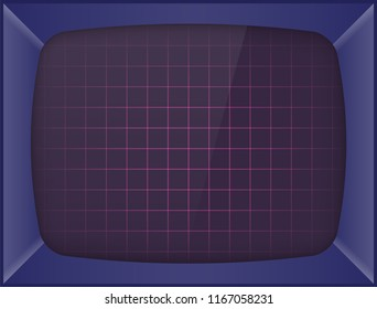 Retro arcade game machine. Screen background. Vector illustration.