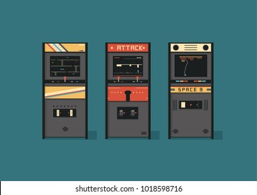 Retro Arcade Machine Vector illustrations