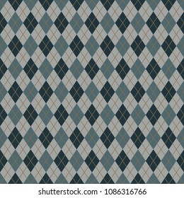 Retro Argyle Seamless Pattern - Argyle seamless pattern in retro colors of green, blue, and gray for Father's Day