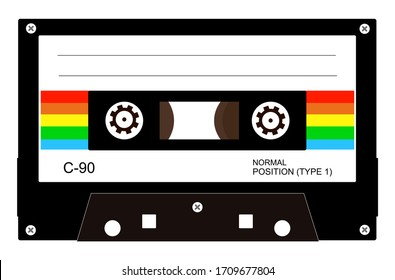 Retro audio cassette tape vector