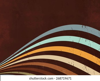 Retro background - abstract lines - 80s style