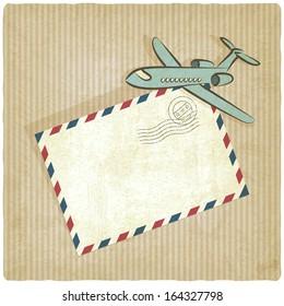 retro background with plane - vector illustration