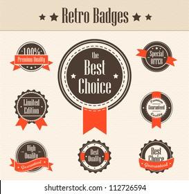 Retro badges. Vector
