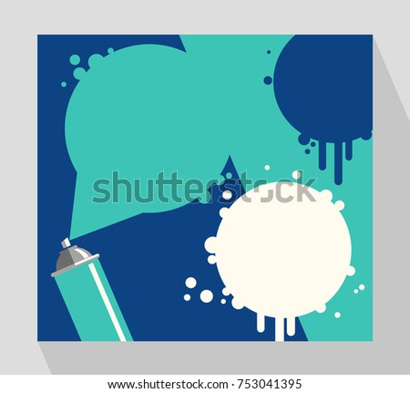 Retro Banner Template Spray Paint Can Stock Vector Royalty Free